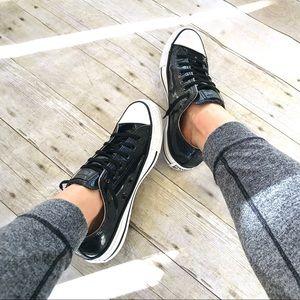 Black Converse Chuck Taylor Shiny glitter sneakers